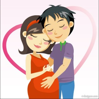 cartoon-expectant-mothers-vector-03-vector-16573