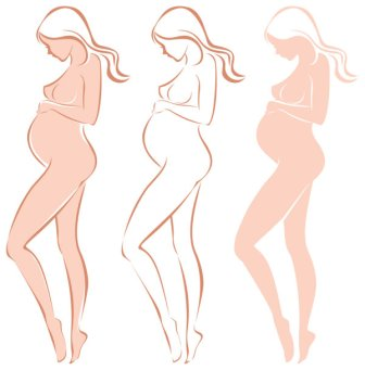 expectant-mothers-silhouette-05-vector-material-36679