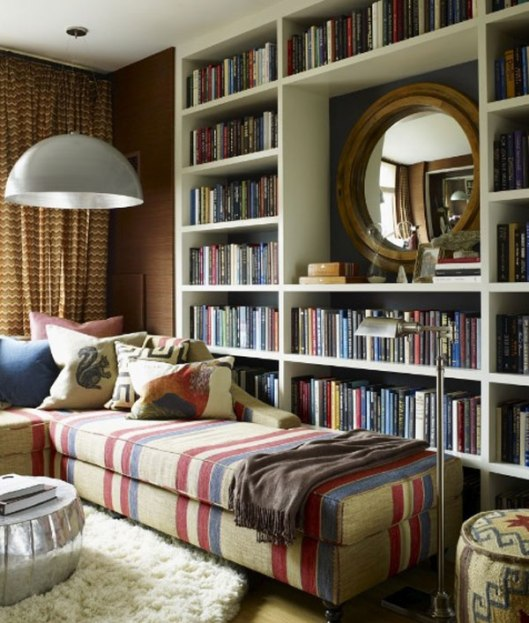 vibrant-home-library-with-a-traditional-touch
